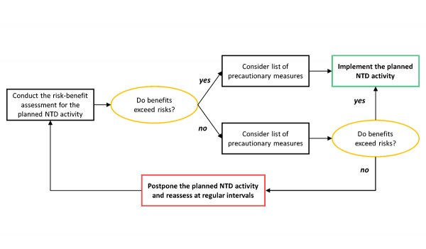 Flowchart diagram of the decision making framework